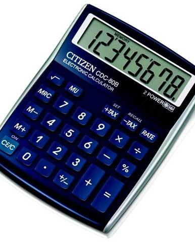 Kalkulačka Citizen CDC-80BL modrá