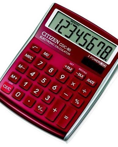 Kalkulačka Citizen CDC-80RD červená