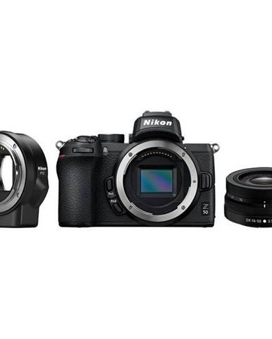 Digitálny fotoaparát Nikon Z50 + 16-50 VR + adaptér bajonetu FTZ
