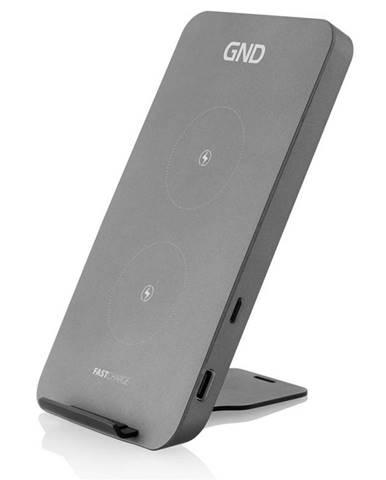 Bezdrôtová nabíjačka GND 10W, 2in1 čierny