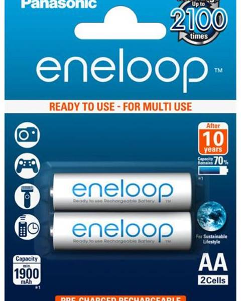 Panasonic Batéria nabíjacie Panasonic Eneloop AA, HR06, 1900mAh, Ni-MH,