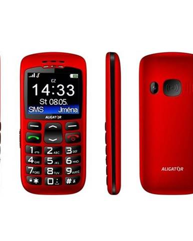 Mobilný telefón Aligator A670 Senior červený