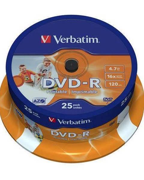 Verbatim Disk Verbatim Printable DVD-R 4.7GB, 16x, 25cake