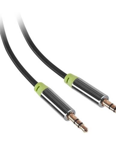 Kábel Gogen Jack 3,5mm, 5m, pozlacené konektory čierny