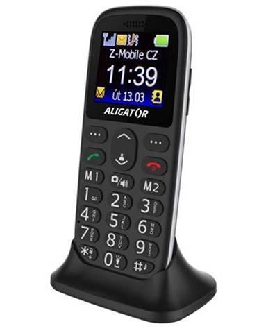 Mobilný telefón Aligator A510 Senior čierny