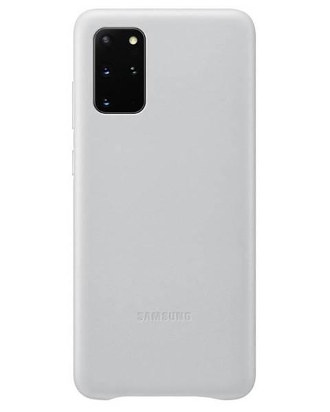 Samsung Kryt na mobil Samsung Leather Cover na Galaxy S20+ sivý