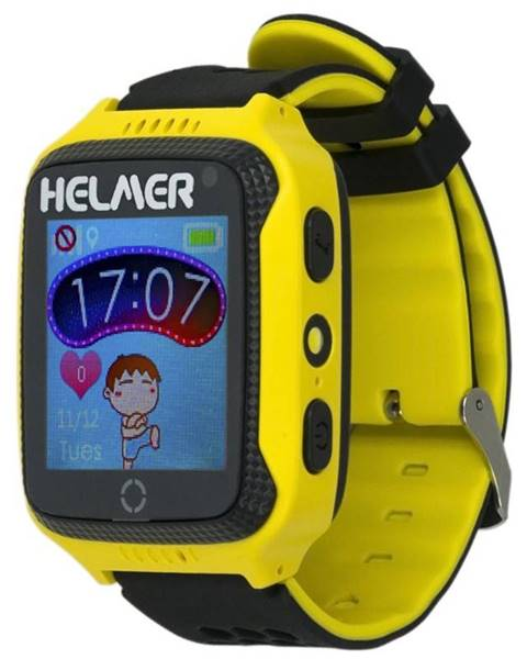 Helmer Inteligentné hodinky Helmer LK 707 dětské s GPS lokátorem žltý