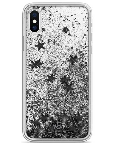 Kryt na mobil White Diamonds Sparkle na Apple iPhone X/Xs čierny