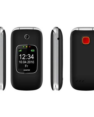 Mobilný telefón Aligator V650 Senior čierny/strieborný