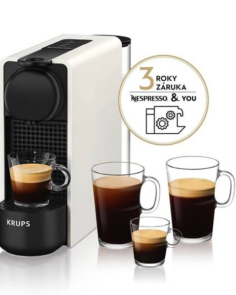 Krups Espresso Krups Nespresso Essenza Plus XN510110 biele