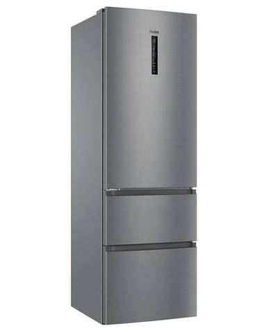 Kombinácia chladničky s mrazničkou Haier Afe735chj Titanium