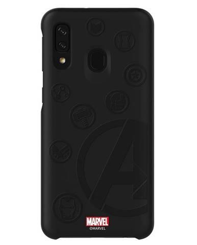 Kryt na mobil Samsung Smart Cover Avengers na Galaxy A40 čierny