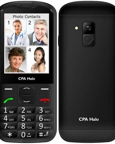 Mobilný telefón CPA Halo 18 Senior s nabíjecím stojánkem čierny