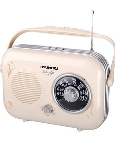Rádioprijímač Hyundai Retro PR 100B krémov