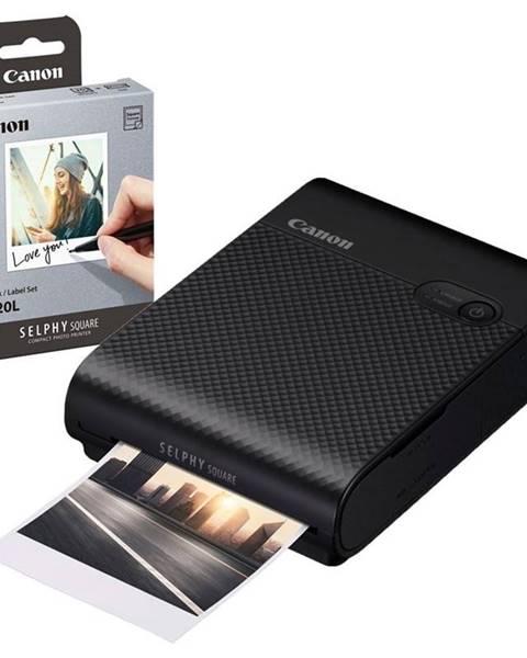 Canon Fototlačiareň Canon Selphy Square QX10 + fotopapiere 20 ks čierna