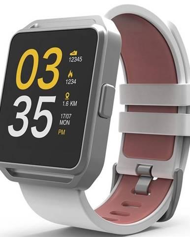 Inteligentné hodinky Cube 1 Fitwatch strieborné