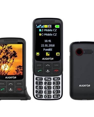 Mobilný telefón Aligator VS 900 Senior Dual SIM čierny/strieborný