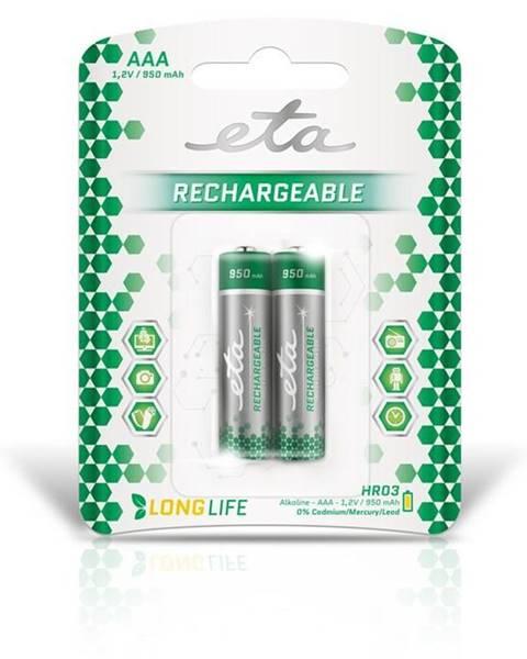 Eta Batéria nabíjacie ETA AAA, HR03, 950mAh, Ni-MH, blistr 2ks