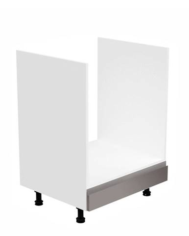 Skrinka na spotrebiče biela/sivá extra vysoký lesk AURORA D60ZK