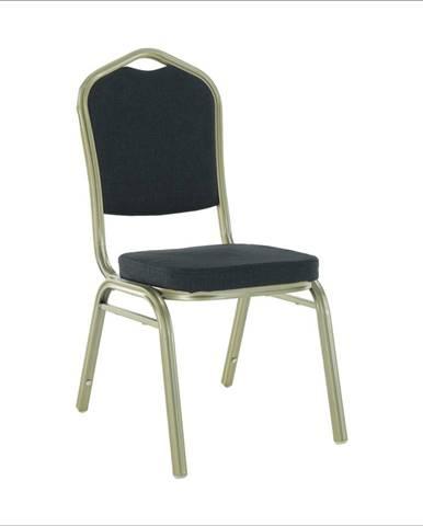 Stohovateľná stolička sivá/champagne ZINA 2 NEW