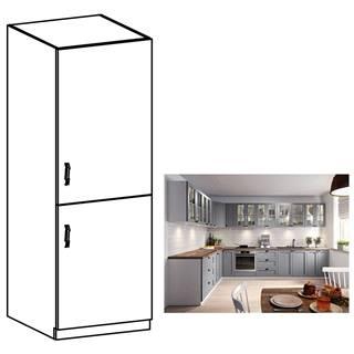 Vysoká skrinka sivá matná/biela pravá LAYLA D60R