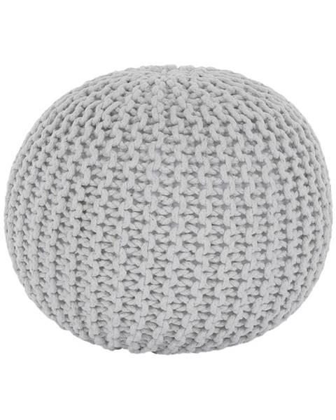 Tempo Kondela Pletený taburet smotanová (biely melír) bavlna GOBI TYP 2