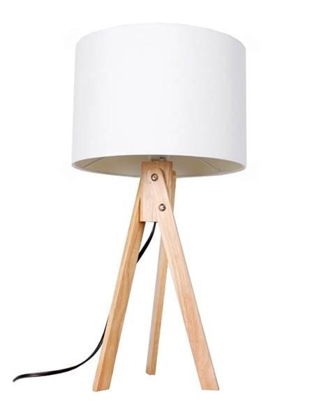 Kondela Stolná lampa biela/prírodné drevo LILA TYP 1 LS2002