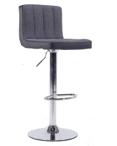 Barová stolička sivá/čierna HILDA