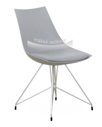 Stolička jedálenská chróm/sivá CHROME poškodený tovar