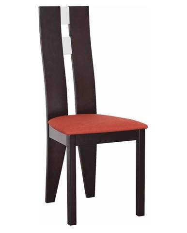 Drevená stolička wenge/terakota BONA poškodený tovar