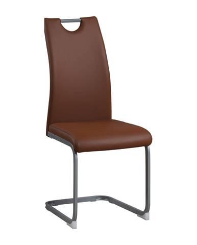 Jedálenská stolička hnedá DEKOMA