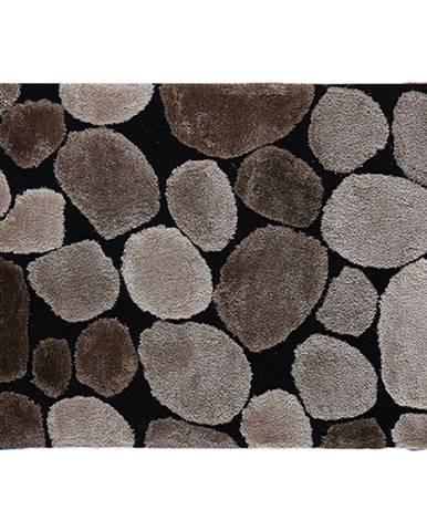 Koberec hnedá/čierna 120x180 PEBBLE TYP 2
