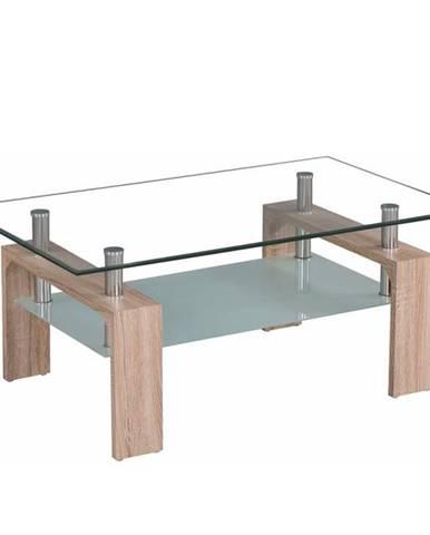 Konferenčný stolík dub sonoma/sklo LIBOR NEW