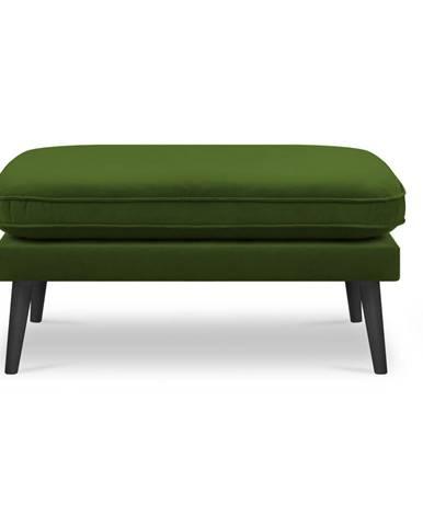 Zelená podnožka s čiernymi nohami Kooko Home Lento