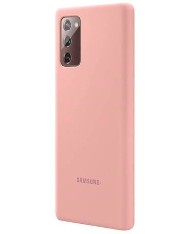 Kryt na mobil Samsung Silicone Cover na Galaxy Note20 hnedý/ružový