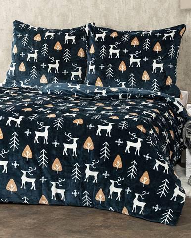 4Home obliečky mikroflanel Nordic Deer, 140 x 220 cm, 70 x 90 cm