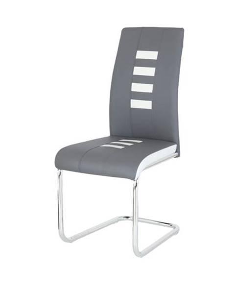 Sconto Jedálenská stolička ANASTASIA sivá/biela