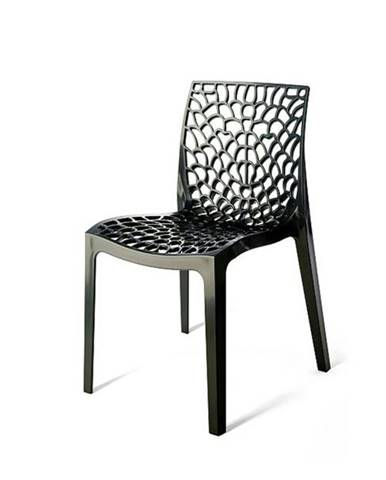Jedálenská stolička GRUVYER antracitová
