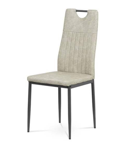 Sconto Jedálenská stolička OLINA sivá/antracit
