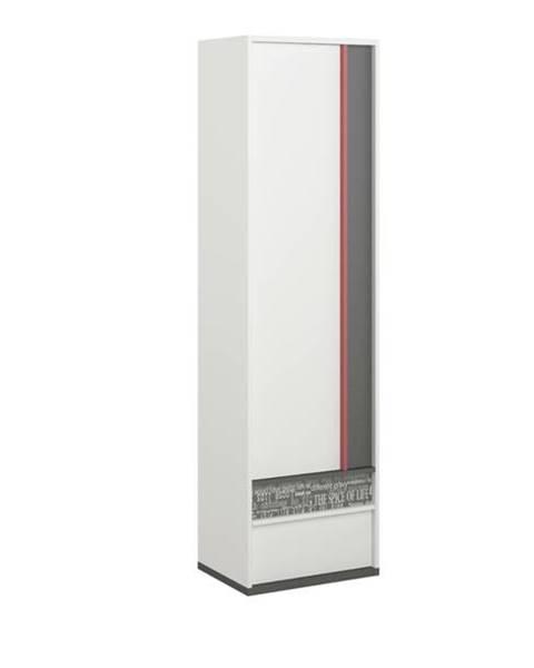 Sconto Šatníková skriňa PHILOSOPHY PH-03 biela/grafit