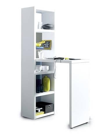 Barový stôl s regálom BAR 8930 biela
