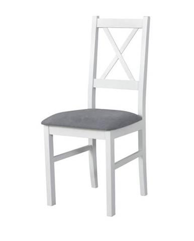 Jedálenská stolička NILA 10 sivá/biela