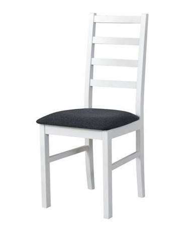 Jedálenská stolička NILA 8 tmavosivá/biela