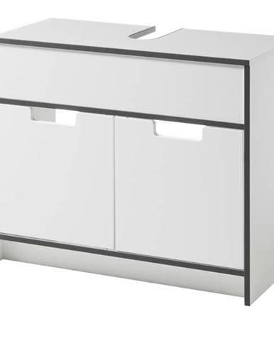 Umývadlová skrinka NEWPORT biela/antracitová