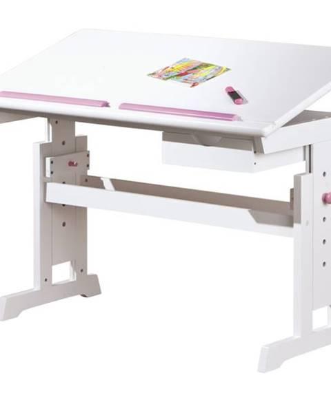 Sconto Nastaviteľný písací stôl BERNIS biela