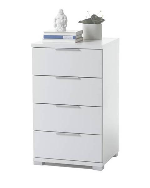 Sconto Nočný stolík KORON 4 biela