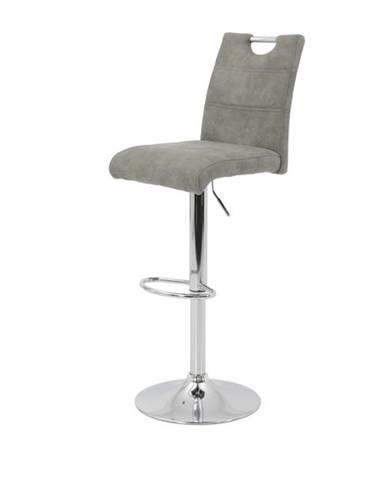 Barová stolička MIRANDA H svetlosivá