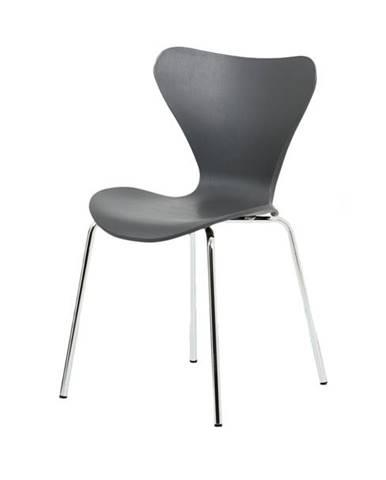 Jedálenská stolička ALBA sivá