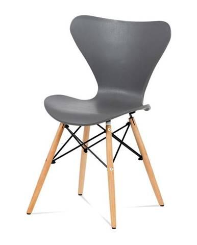 Jedálenská stolička DARINA buk/sivá
