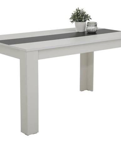 Jedálenský stôl MAREIKE T biela/čierna